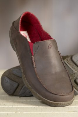 Men's Olukai Moala Kohana Wool-Lined Leather Shoes