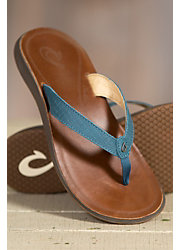 Women's Olukai Pua Leather Sandals