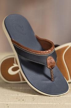 Men's Olukai Polena Leather Sandals