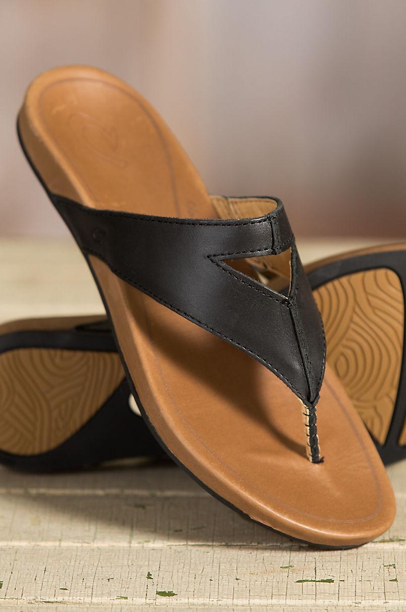 d74ca9d5822a Women s Olukai Lala Leather Sandals