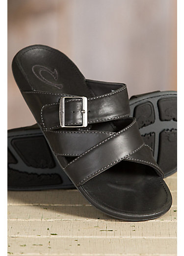 Men's Olukai Kaupe'a Leather Sandals