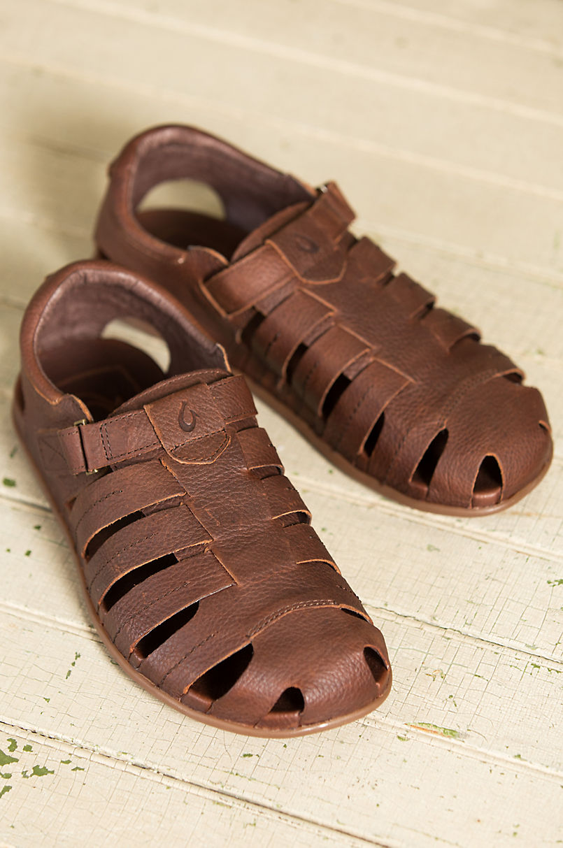 d84c7ff053d Men s Olukai Mohalu Fisherman Leather Sandals