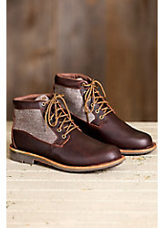 Men's Olukai Hualalai Waterproof Leather and Canvas Boots