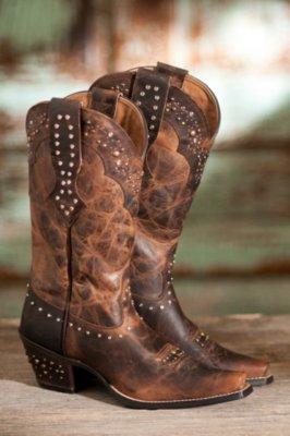 Women's Ariat Rhinestone Leather Cowboy Boots