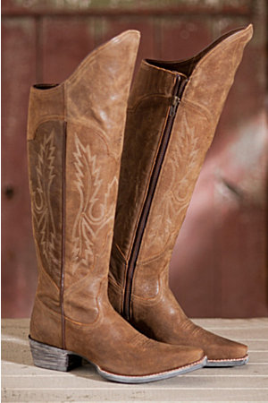 Women&39s Ariat Murrieta Knee-High Leather Cowboy Boots | Overland