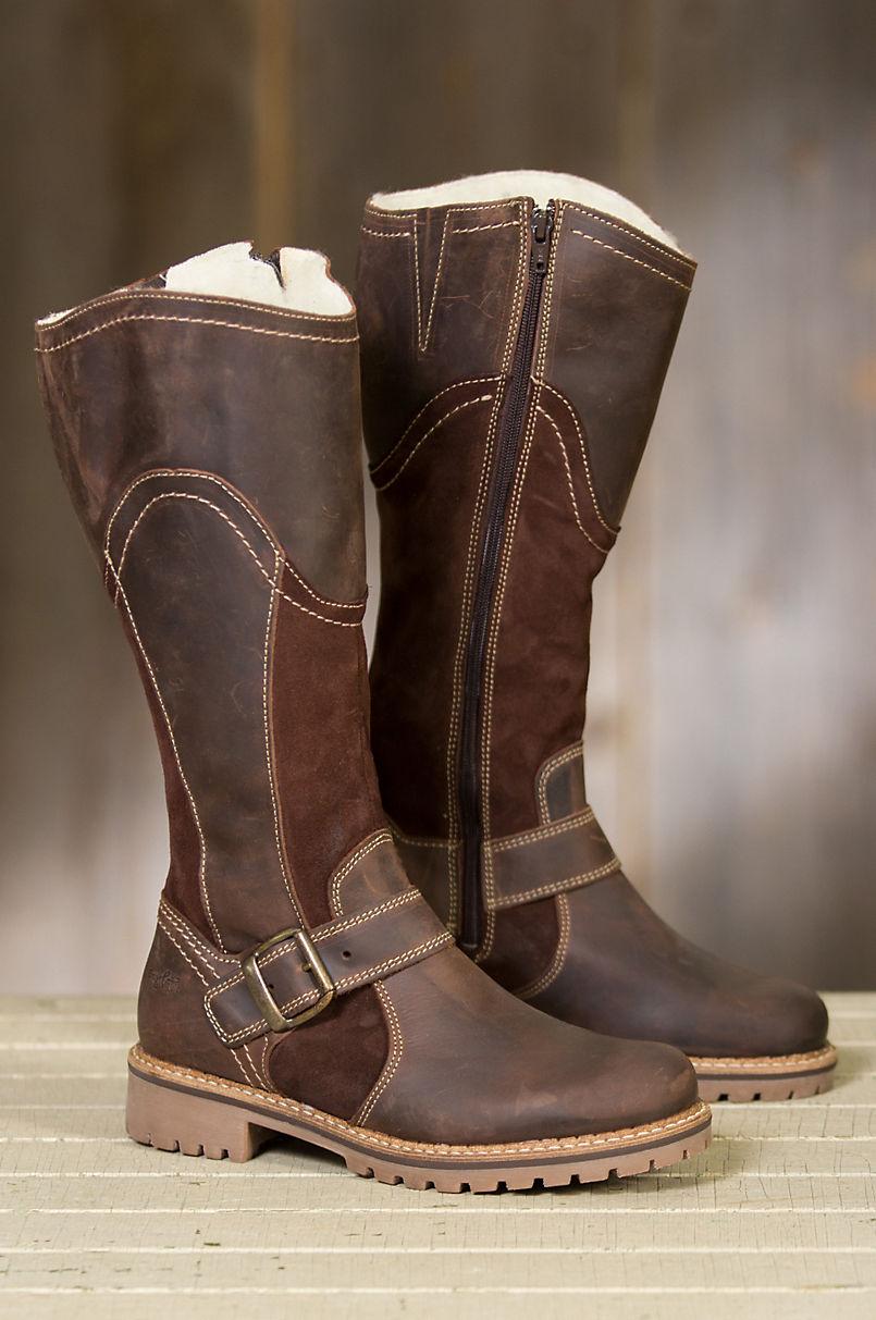 Women s Bos   Co Hopper Outercity Tall Wool-Lined Waterproof Leather ... 47c936f563