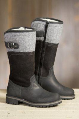 Women's Bos & Co Hawker Merino Wool-Lined Waterproof Leather Boots