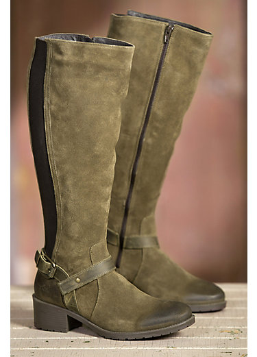 Women's Bos & Co Blossom Waterproof Suede Boots