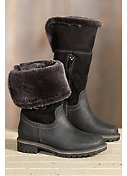 Women's Bos & Co Hillory Lux (Overland Edition) Wool-Lined Waterproof Leather Boots with Shearling Collar