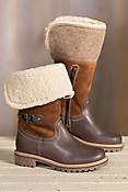Women's Bos & Co Hillory (Overland Edition) Wool-Lined Waterproof Leather Boots with Shearling Collar