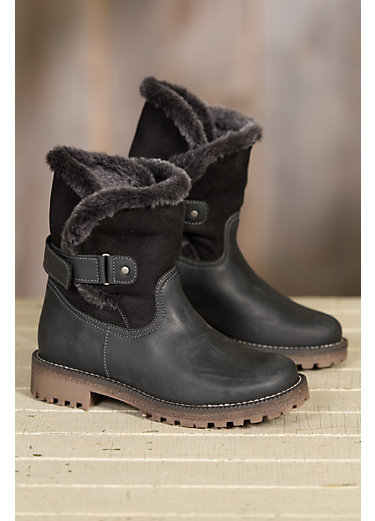 Women's Bos & Co Candy (Overland Edition) Wool-Lined Waterproof Leather Short Boots with Shearling Shaft
