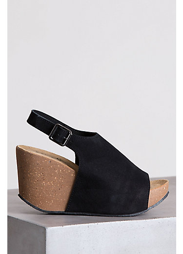Women's Bos & Co Sheila Suede Slingback Wedge Sandals