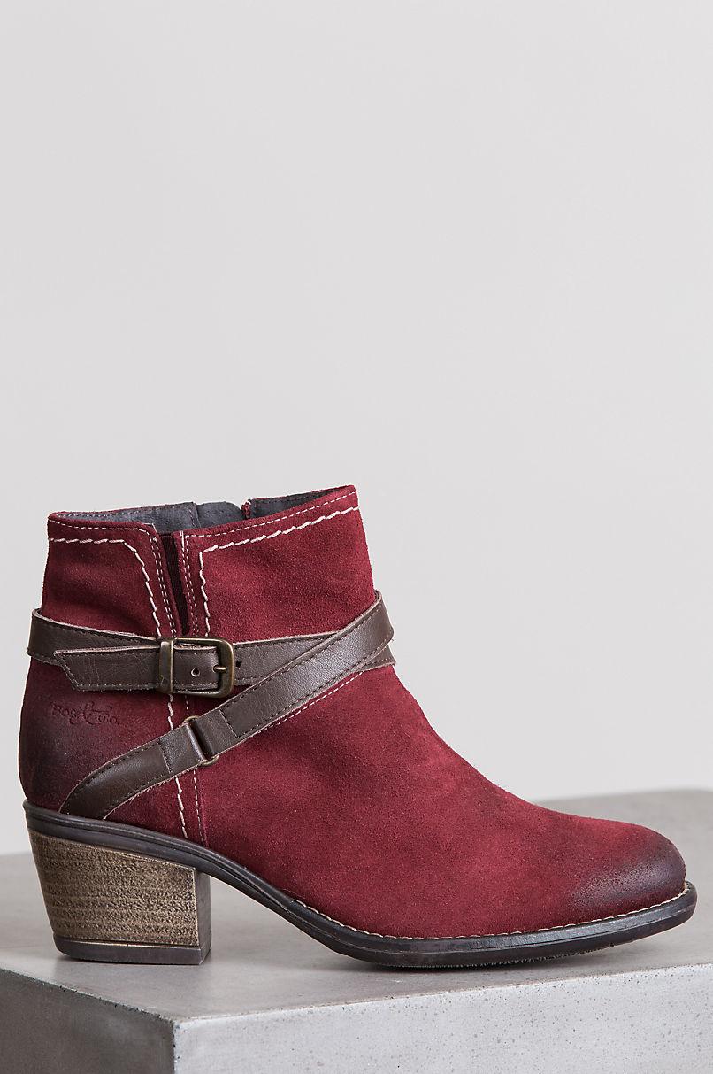 Women's Bos & Co Greenville Waterproof Suede Ankle Boots