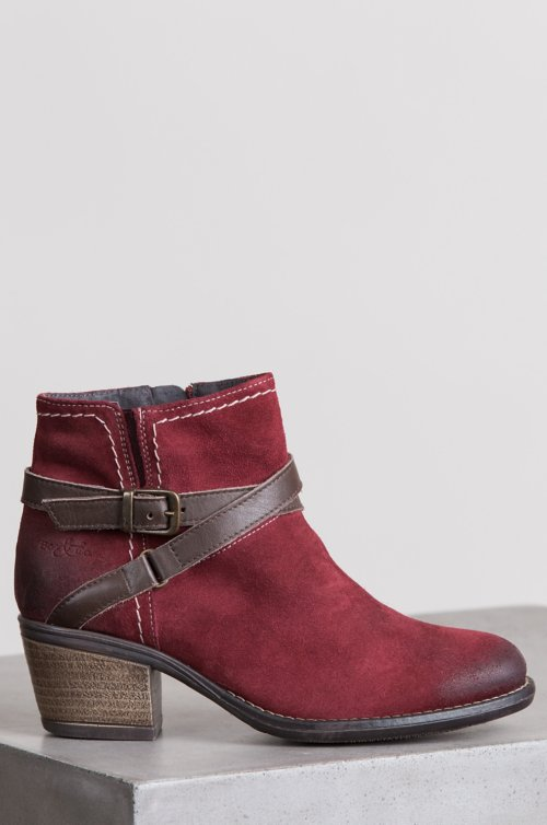 Women's Bos & Co Greenville Waterproof Suede Ankle Boots