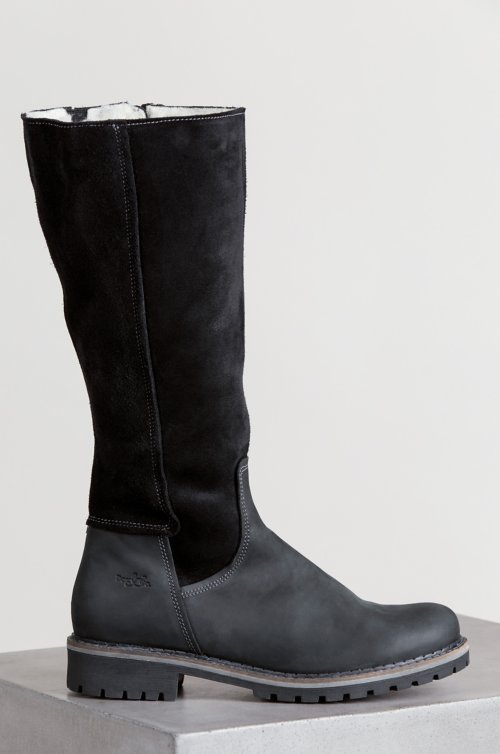 Women's Bos & Co Hudson Shearling-Lined Waterproof Leather Boots