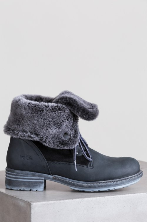 Women's Bos & Co Springfield (Overland Edition) Wool-Lined Waterproof Leather and Sheepskin Boots