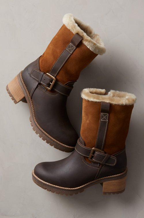 Women's Bos & Co Maine (Overland Edition) Wool-Lined Waterproof Leather and Sheepskin Boots