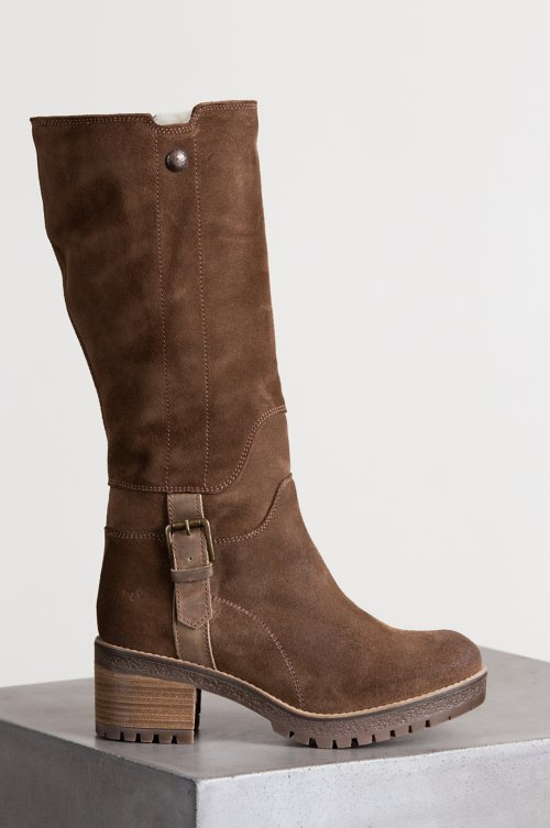 Women's Bos & Co Major (Overland Edition) Wool-Lined Waterproof Suede Boots