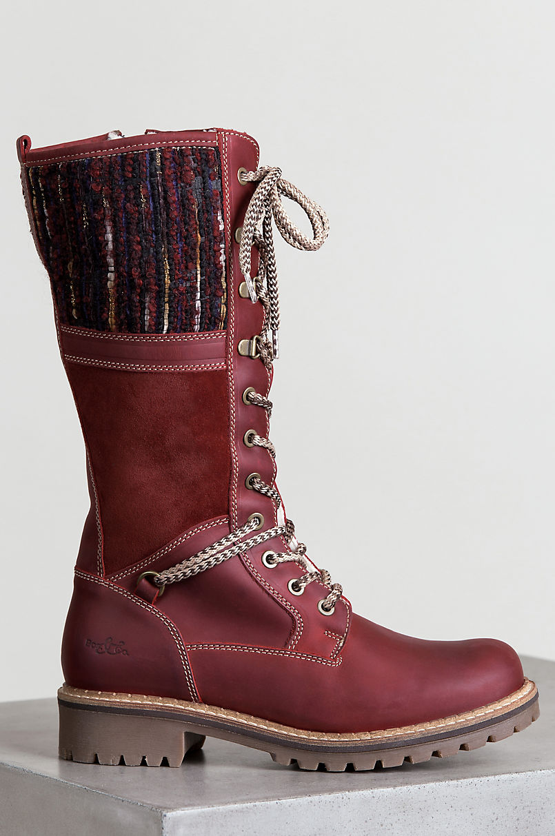 Women s Bos   Co Holland Wool-Lined Waterproof Leather Boots  5b0f2cf1e3