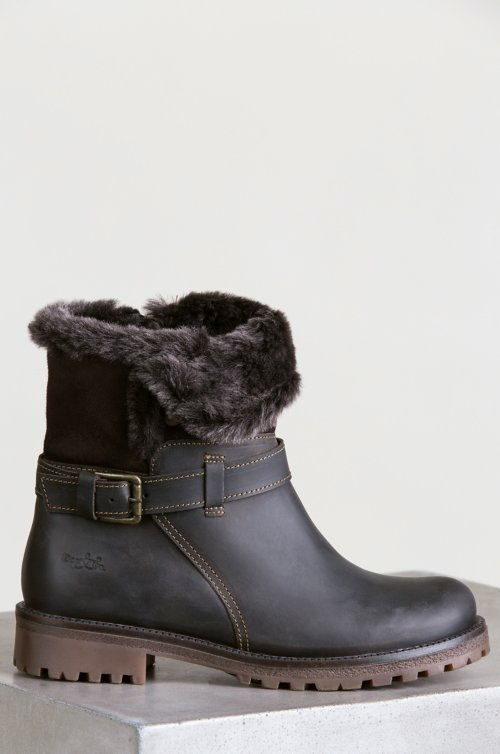 Women's Bos & Co Cluster (Overland Edition) Wool-Lined Waterproof Leather and Sheepskin Boots