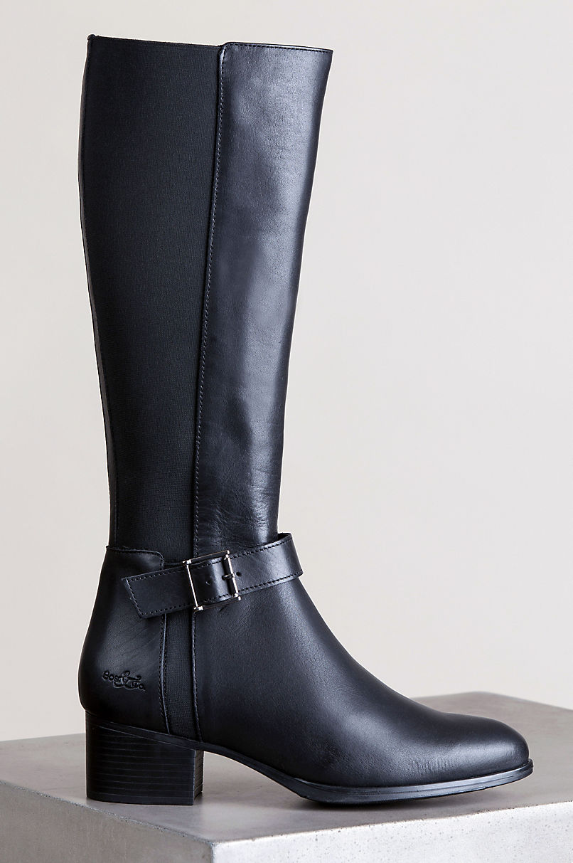 Women's Bos & Co Rebel Waterproof Leather and Elastic Boots