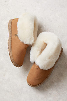Children's Shearling-Lined Suede Slipper Booties