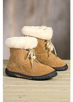 Children's Lamo Bianca Fleece-Lined Suede Boots