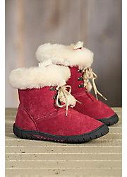 Children's Lamo Bianca Fleece-Lined Suede Boots