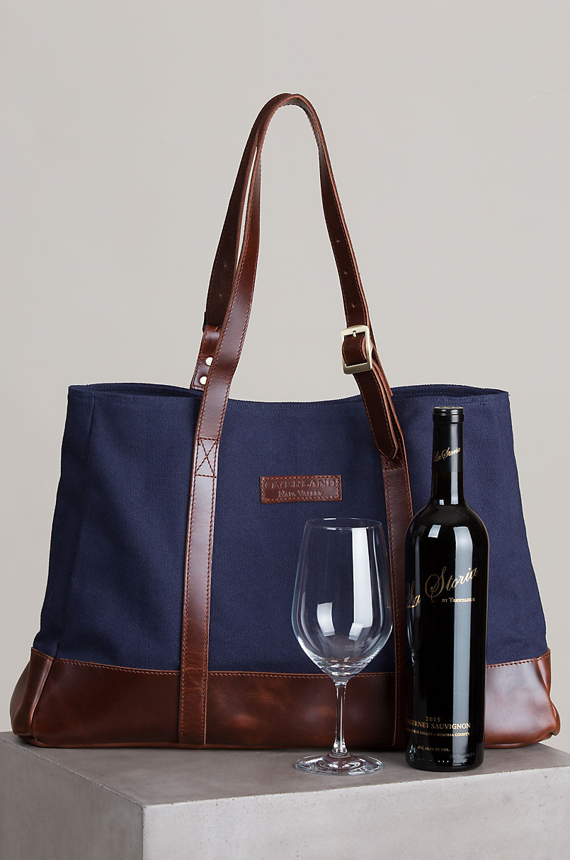 Overland Napa Valley Handcrafted Cotton Canvas Wine Tote Bag