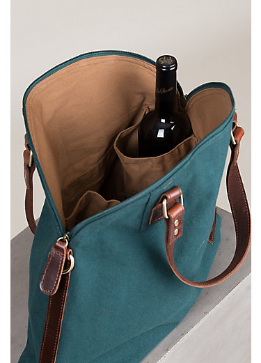 Overland Napa Valley Handcrafted Cotton Canvas Messenger Tote Bag