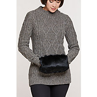 Vintage Scarves- New in the 1920s to 1960s Styles Rabbit Fur Crossbody Muff Clutch $69.00 AT vintagedancer.com