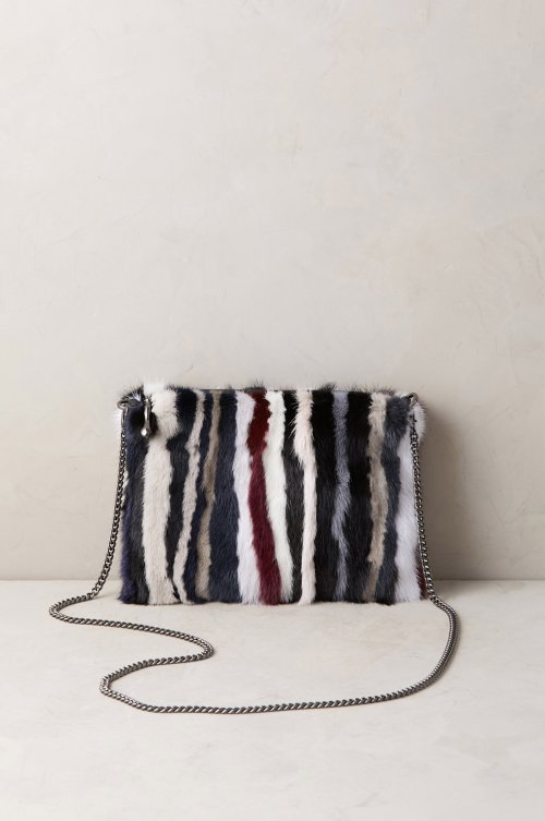 Hanley Danish Mink Fur Crossbody Wristlet Clutch