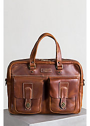 Coronado Americana CEO Leather Briefcase with Concealed Carry Pocket