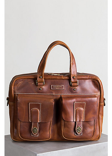 Americana CEO Leather Briefcase with Concealed Carry Pocket