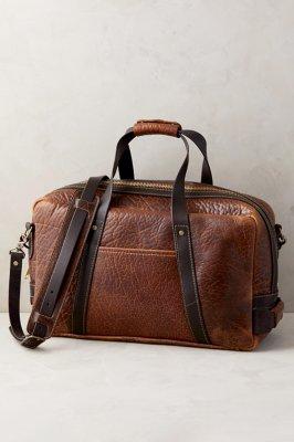 Coronado Weekender Bison Leather Duffel Bag