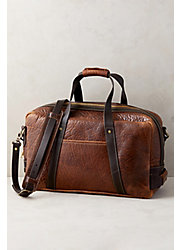 Weekender Bison Leather Duffel Bag
