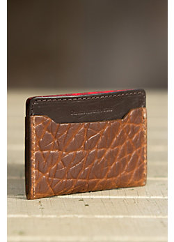 Coronado Bison Leather Slim Wallet
