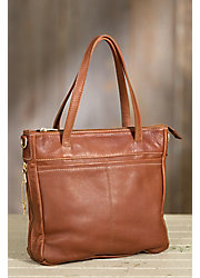 Taos Collection Leather Tote Bag with Concealed Carry Pocket