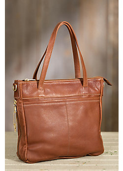 Overland Taos Collection Leather Tote Bag with Concealed Carry Pocket