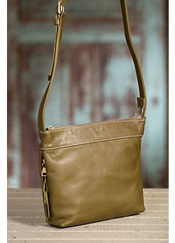 Overland Taos Collection Leather Crossbody Handbag with Concealed Carry Pocket