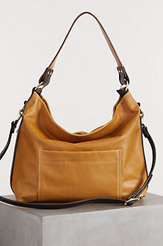 Overland Helen Leather Crossbody Tote Handbag with Concealed Carry Pocket