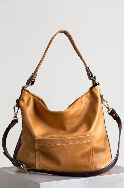 Mesa Leather Crossbody Shoulder Bag with Concealed Carry Pocket