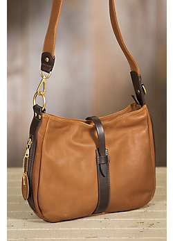 Overland Anne Leather Crossbody Handbag with Concealed Carry Pocket