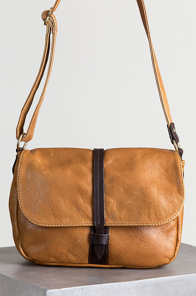 Heidi Leather Convertible Crossbody Shoulder Bag with Concealed Carry Pocket