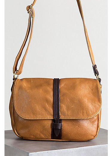 Heidi Leather Crossbody Handbag with Concealed Carry Pocket