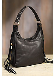 Overland Taos Collection Fringe Shoulder Bag with Concealed Carry Pocket