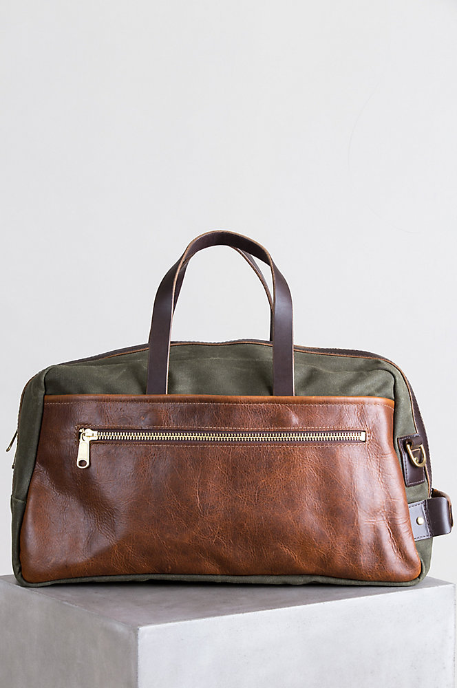 Heritage Canvas and American Bison Leather Duffel Bag