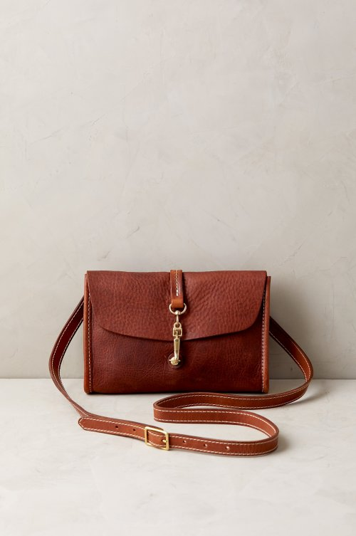Sedona Vintage Small Horween Leather Crossbody Clutch
