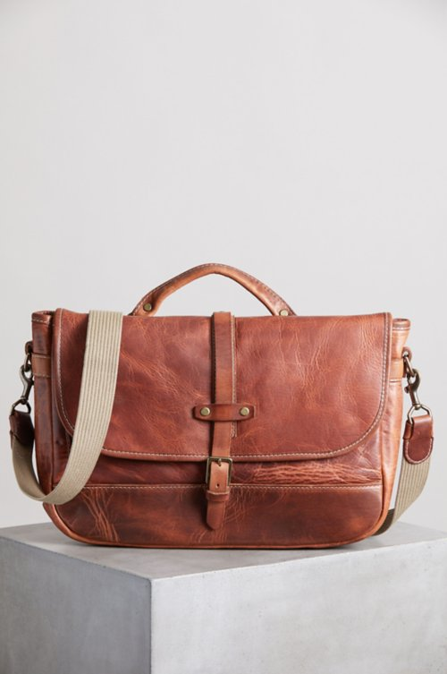 Sedona Vintage Horween Leather Messenger Bag with Concealed Carry Pocket