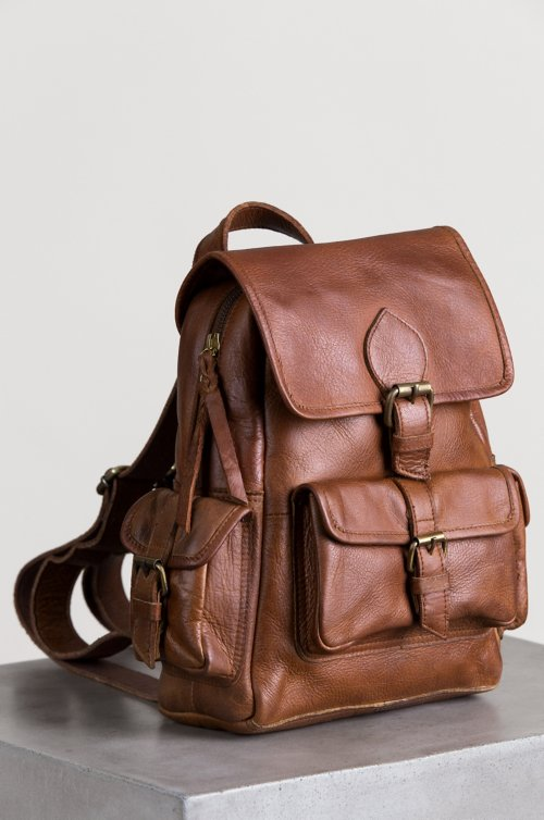 Salem Leather Backpack Purse